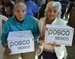 Entrega POSCO apoyos alimentarios  en la colonia Emiliano Zapata