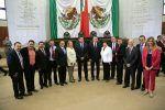 La alcaldesa de Tampico asistió al primer informe de gobierno del mandatario Estatal