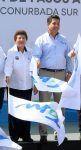 La alcaldesa acompañó al gobernador de Tamaulipas en el banderazo del paso inferior San Pedro