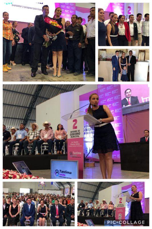 Presenta Rosalía Álvarez Muñoz su segundo informe de actividades del municipio de Tantima