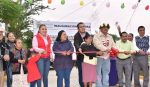 Alcalde Andrés Ramos inaugura pavimentación con concreto mixto