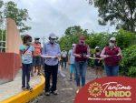 ROSALIA ALVARES INAUGURA GUARNICIONES Y BANQUETAS EN LA LOC. LAS FLORES